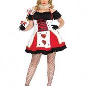 XXXL Взрослое карнавальное платье карточная королева чирвовая дама аниматор