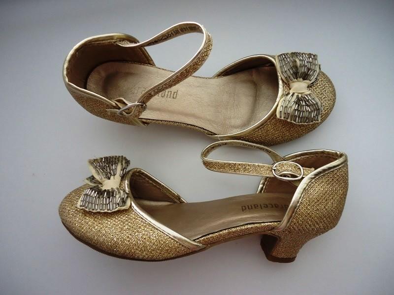 6e2487df Нарядные золотистые туфельки, на праздник, для танцев и выступлений.  стелька 21 см graceland