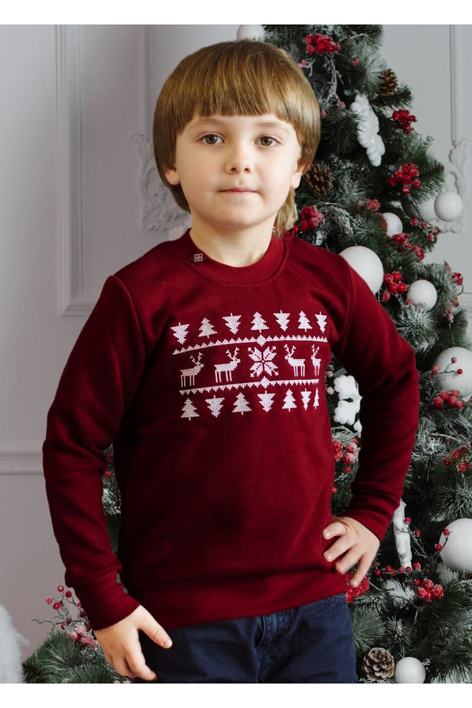 Світшот різдвяний для хлопчика фото №1