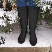 Дутики женские зимние ботинки угги сапожки Pretty Style 3 Шерсть