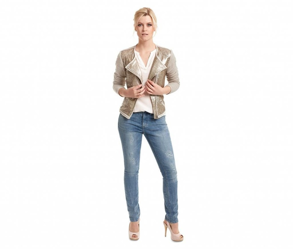 Пиджак косуха кофта с паетками tcm tchibo германия р. 44-46 фото №1