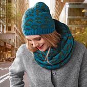 Шикарный теплый комплект снуд +шапка от немецкого бренда тсм tchibo (чибо)