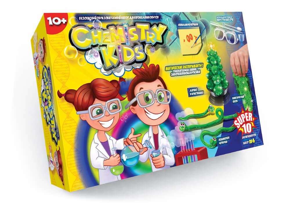 "Набор опытов ""chemistry kid's"" №4- 10 опытов (1000) фото №1"