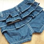 Новые джинсовые шорты с рюшами Kiabi на 6+ мес
