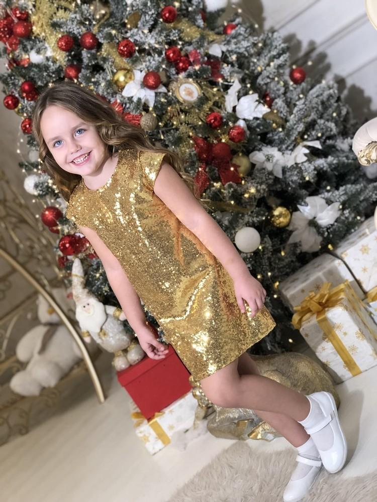 Шикарное платье паетка в ассортименте 104-152 от производителя фото №1