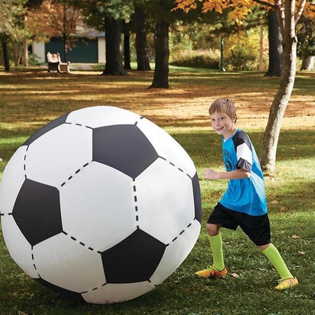 Надувной огромный футбольный мяч 120 см фото №1