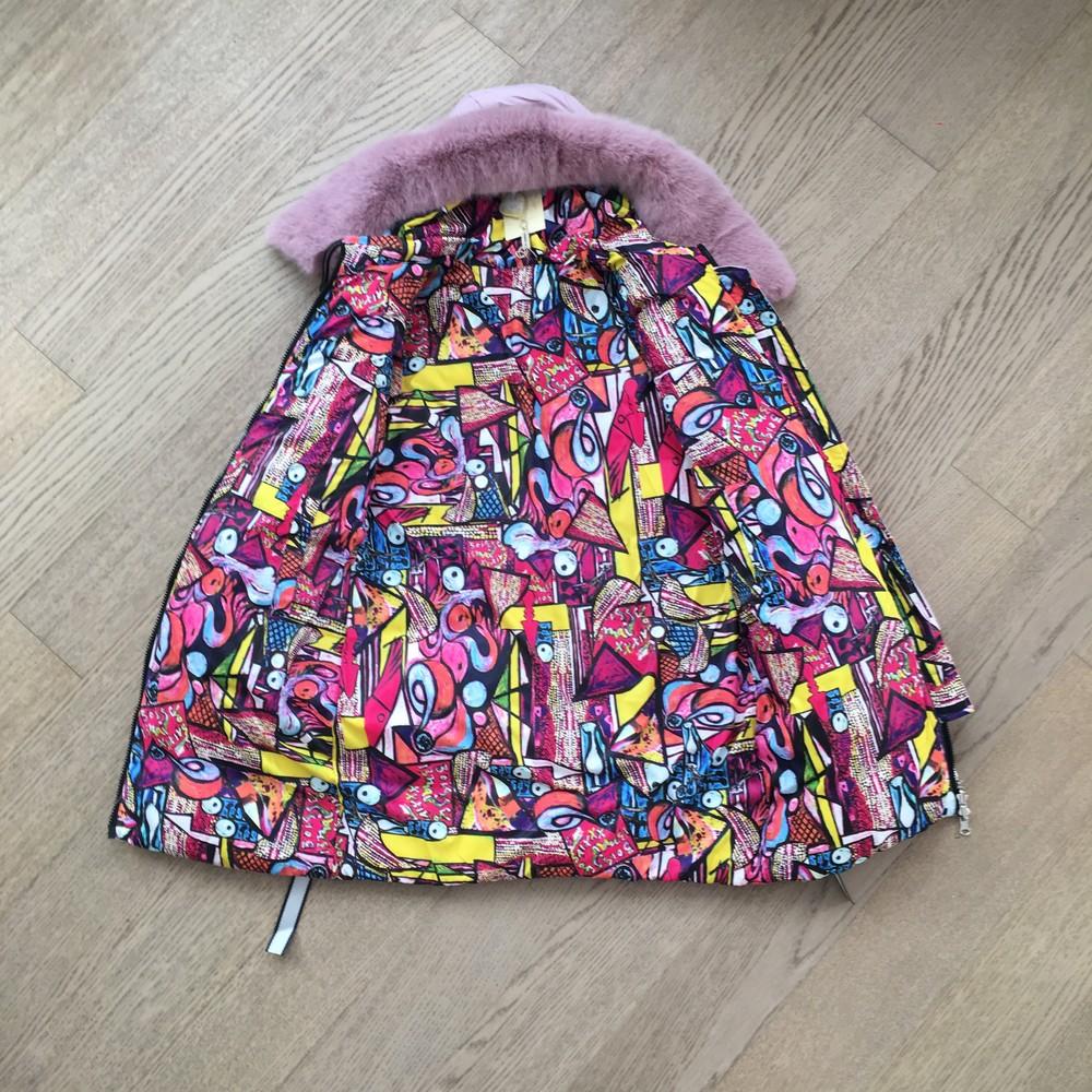 Двухстороння женская зимння куртка ( s-2xl), сьемный мех фото №2