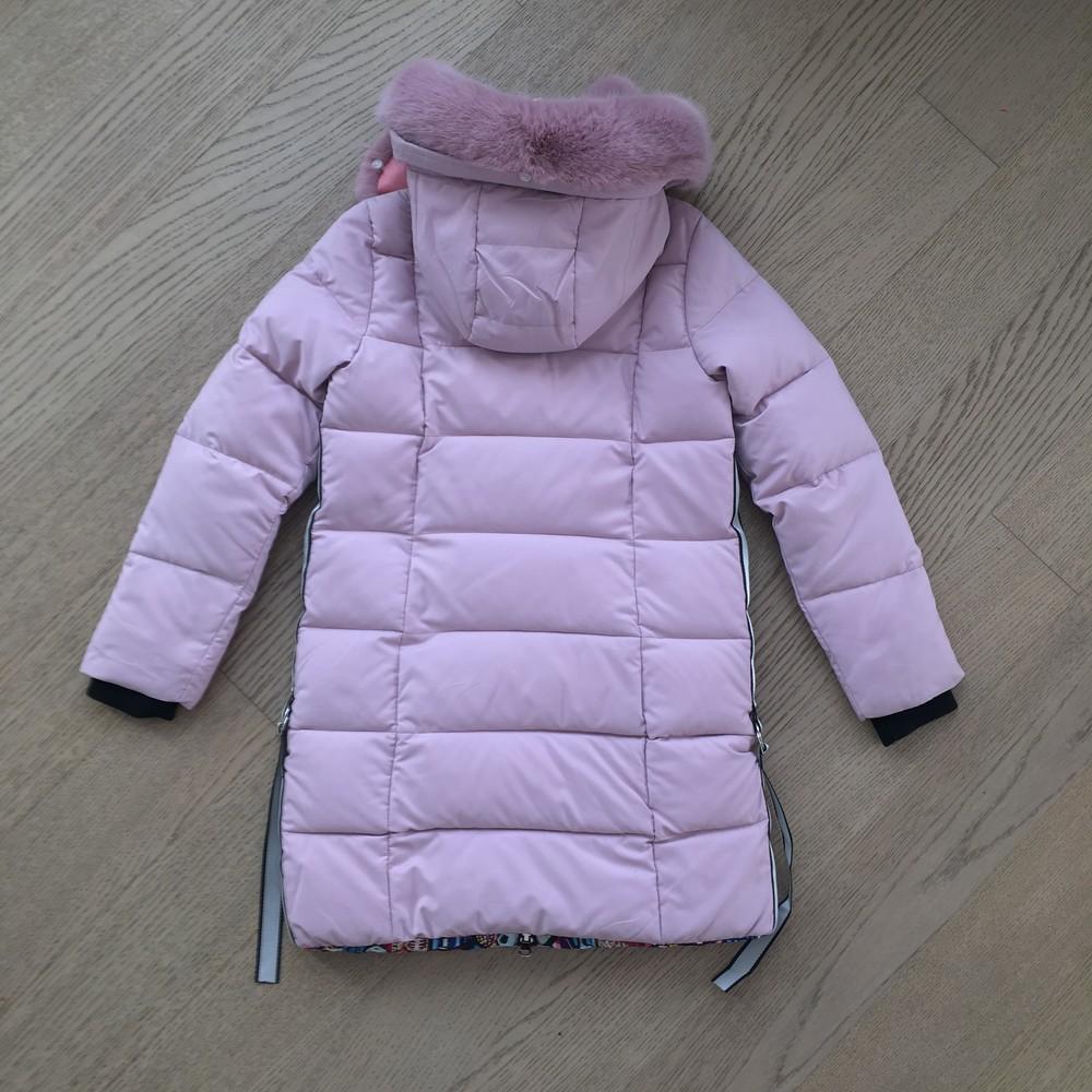 Двухстороння женская зимння куртка ( s-2xl), сьемный мех фото №3