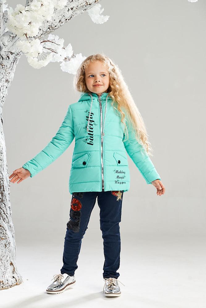 Весенняя куртка на девочку, размеры 116-134, весна 2019, есть замеры фото №1