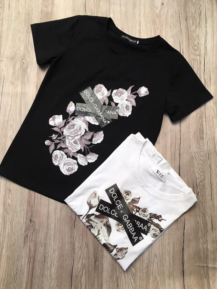 Женская футболка dolce gabbana фото №1