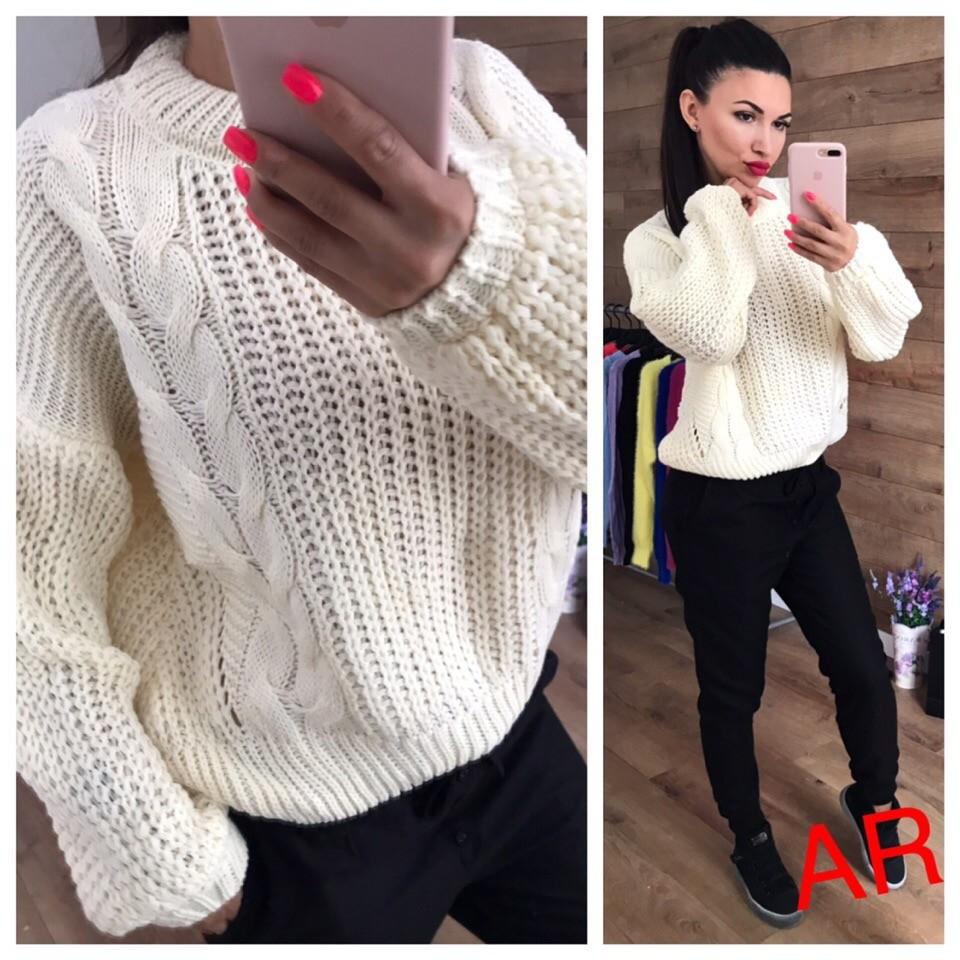 88081f551a0 Женский свитер крупной вязки фото №2