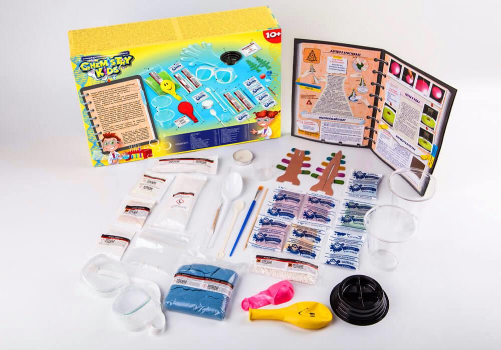Игрушки безопасный образовательный набор для проведения опытов chemistry kids (4 вида) фото №9