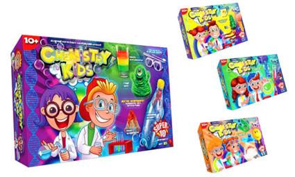 Игрушки безопасный образовательный набор для проведения опытов chemistry kids (4 вида) фото №1