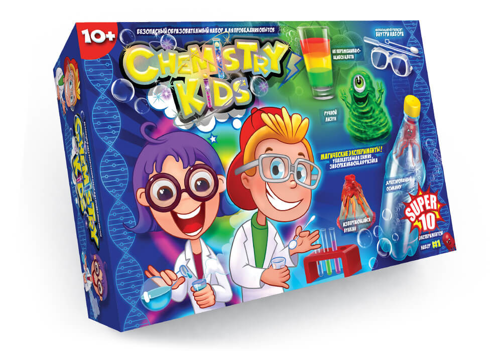 Игрушки безопасный образовательный набор для проведения опытов chemistry kids (4 вида) фото №2