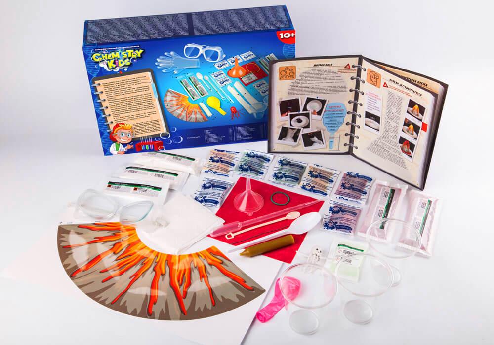 Игрушки безопасный образовательный набор для проведения опытов chemistry kids (4 вида) фото №3