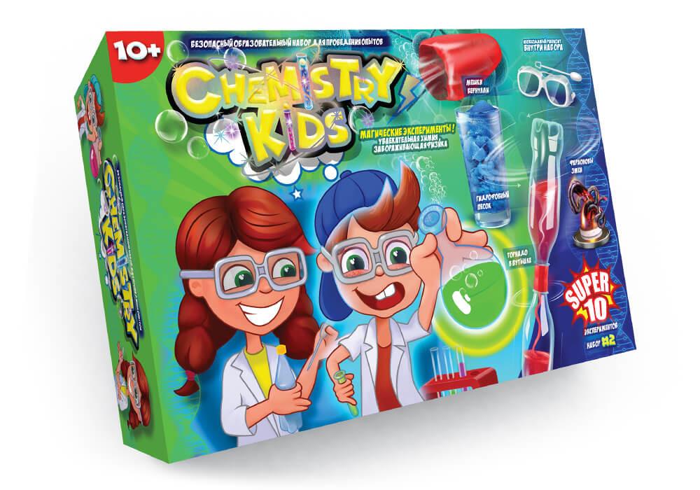 Игрушки безопасный образовательный набор для проведения опытов chemistry kids (4 вида) фото №4