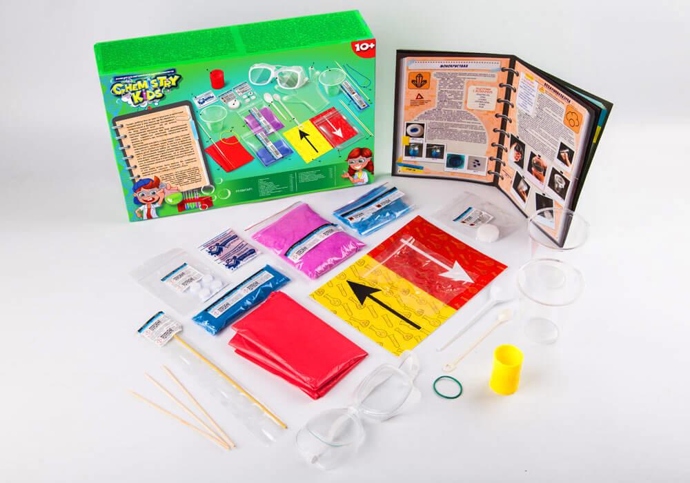 Игрушки безопасный образовательный набор для проведения опытов chemistry kids (4 вида) фото №5