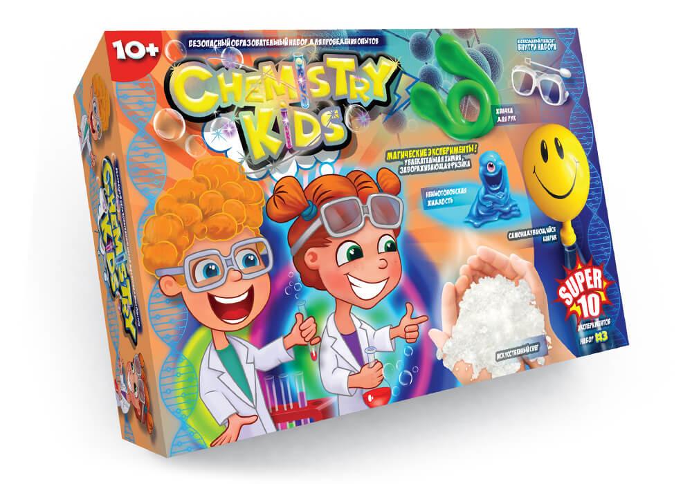 Игрушки безопасный образовательный набор для проведения опытов chemistry kids (4 вида) фото №6