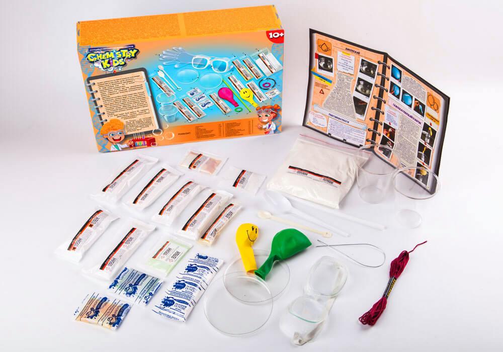 Игрушки безопасный образовательный набор для проведения опытов chemistry kids (4 вида) фото №7
