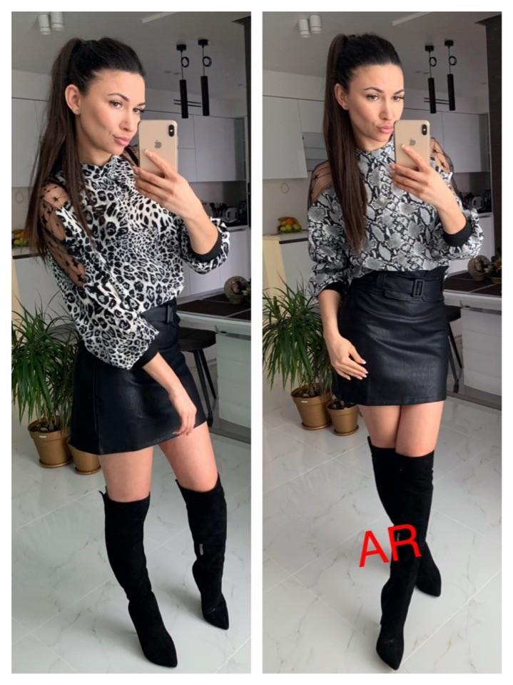 Блуза с животным принтом фото №1