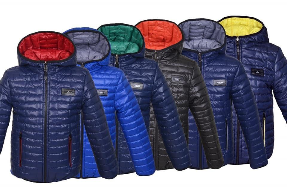 Детская куртка для мальчика демисезонная двусторонняя фото №1