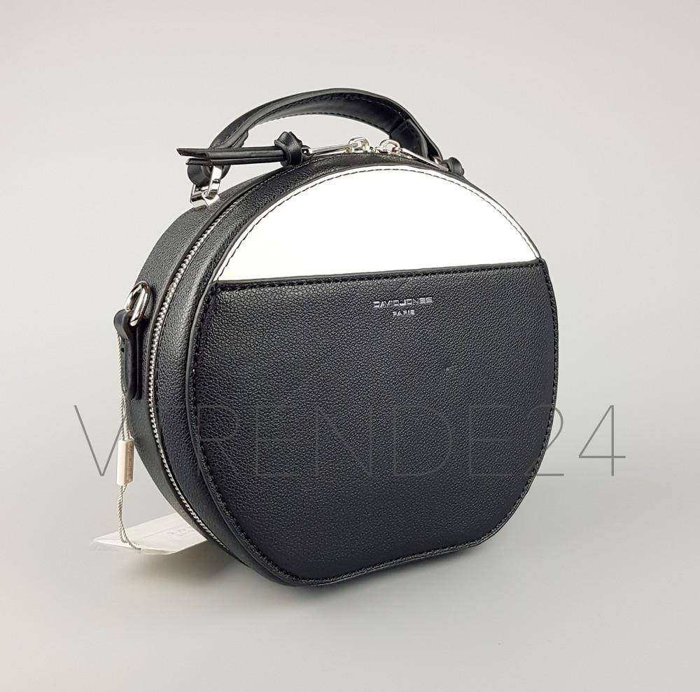 5ca3f6b57b10 Бесплатная доставка #5916-1 black david jones женский круглый клатч фото №2
