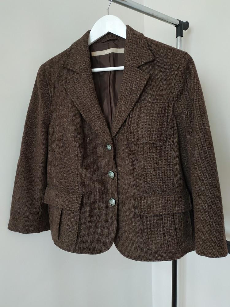 Xxl новый женский пиджак жакет 100% шерсть фото №1