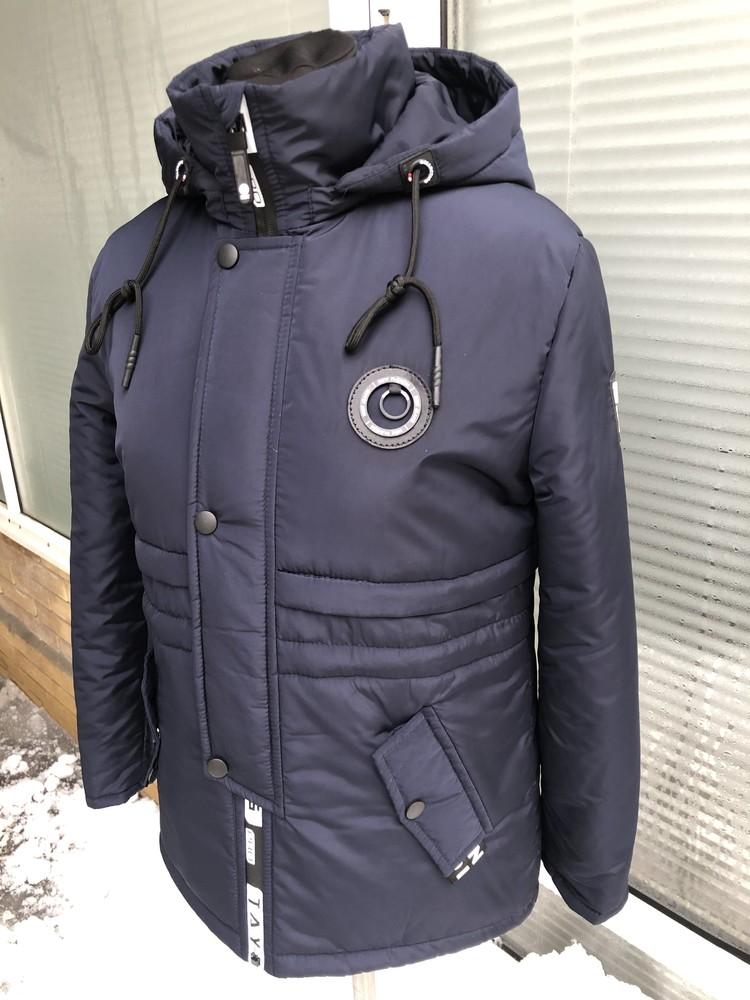 Куртка-парка весенняя для мальчика подростка 135-169 рост фото №1
