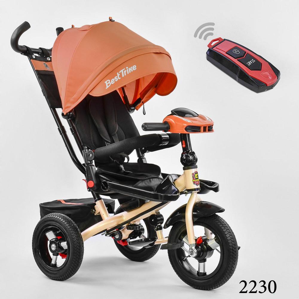 Бест 6088 велосипед трехколесный детский с пультом best trike фото №1