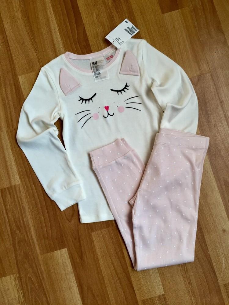 H&m ))) гарненька фірмова піжамка  100% котон фото №1