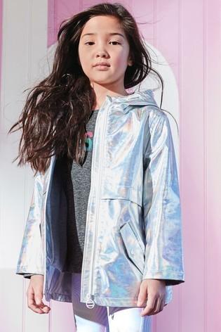 Срібна куртка макінтош next для дівчат розм. 3-16 р. під замовлення фото №1