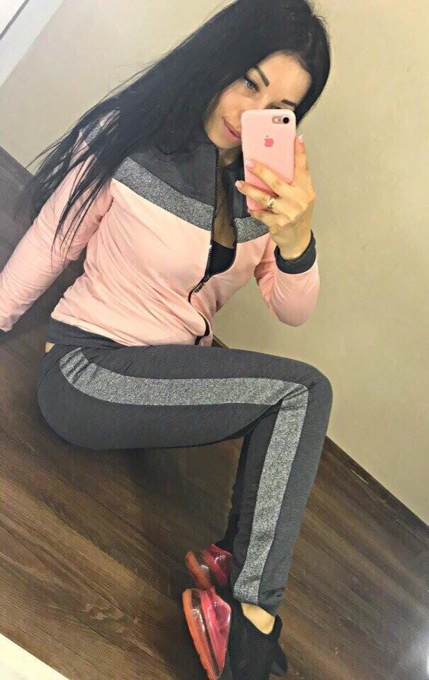Женский спортивный костюм lux кофта на молнии штаны с манжетом вставка люрекс 2 цвета фото №1