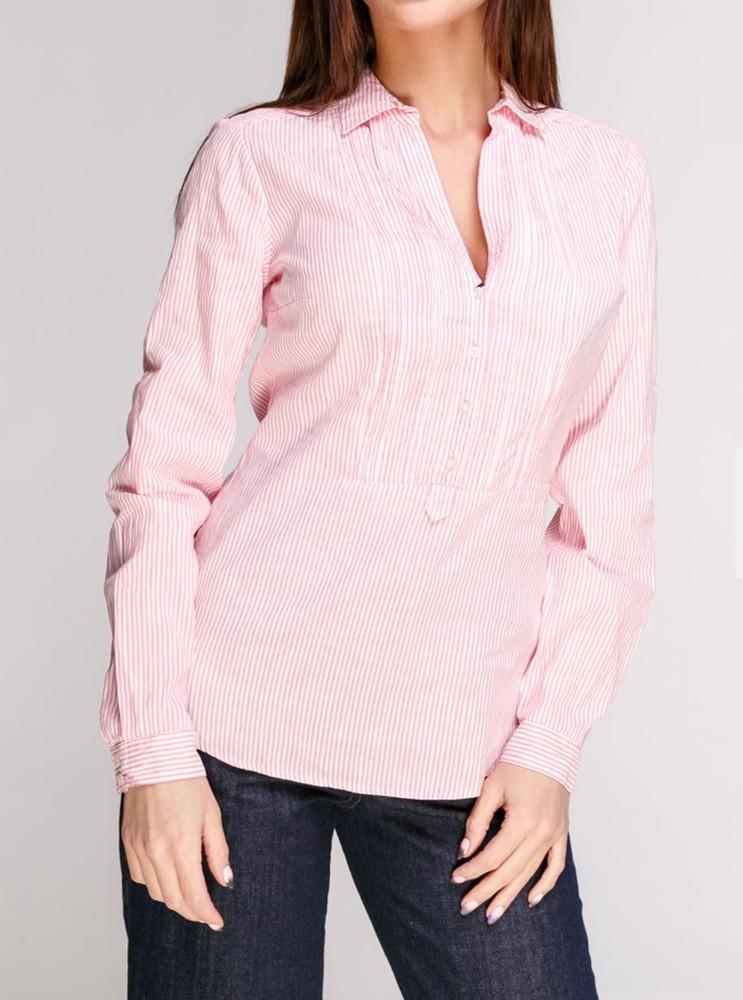 Блуза-рубашка massimo dutti, размер xs, s, лен, хлопок фото №1