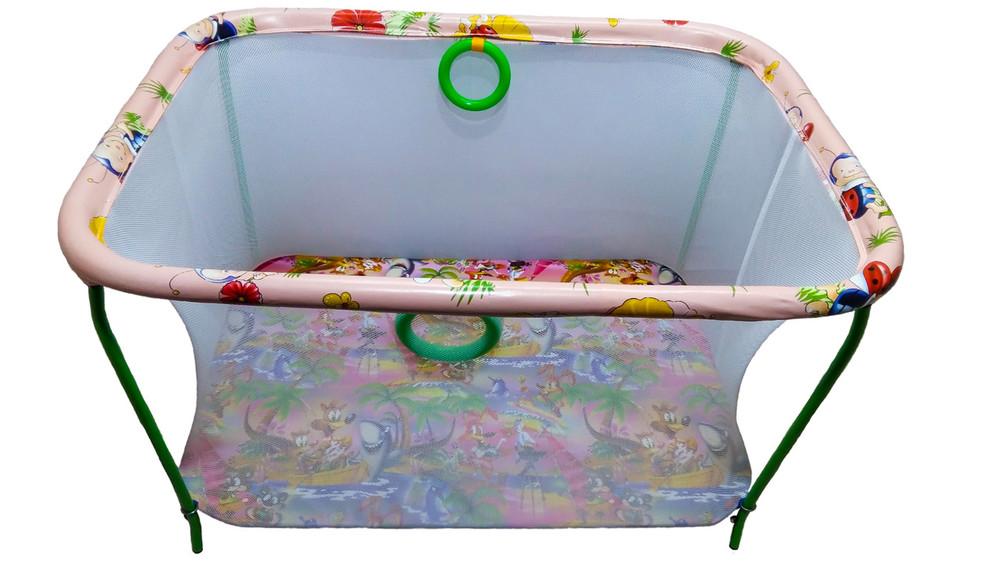 Манеж детский игровой kinderbox полу люкс джунгли с мелкой сеткой.(kmp 3) фото №1