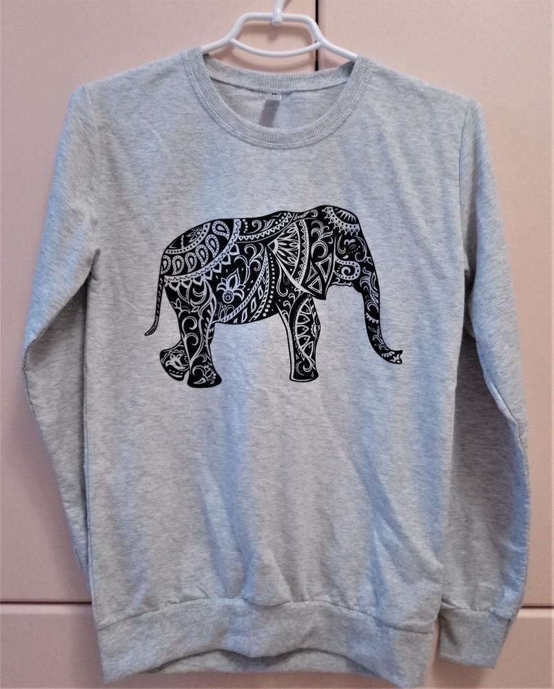 Свитшот женский со слоном m, l, xl 100% хлопок фото №1