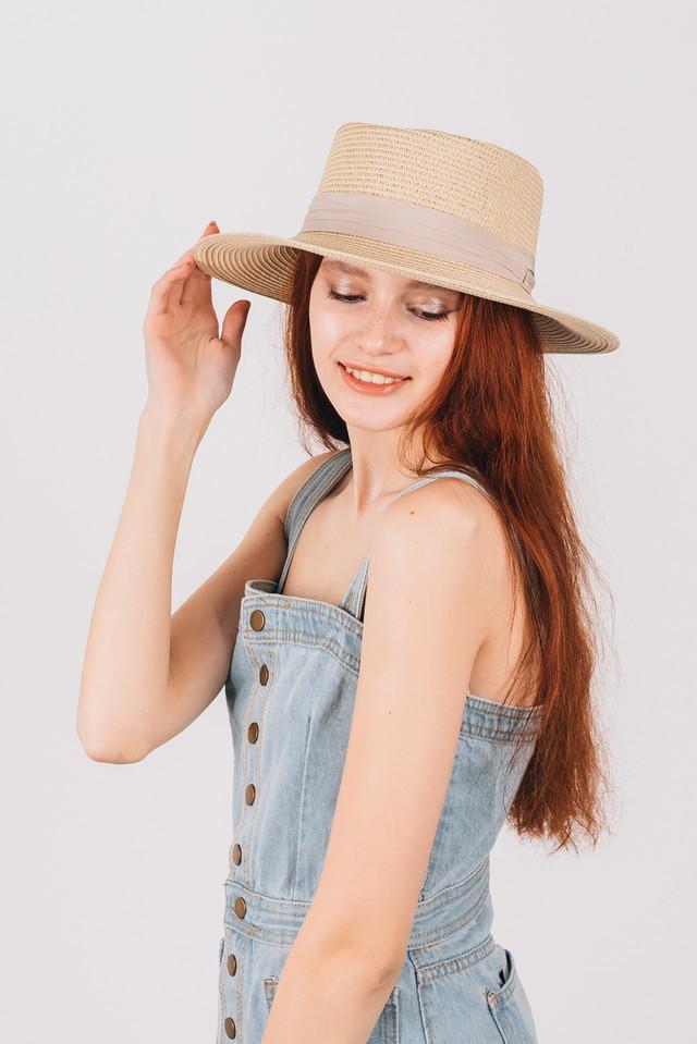 Шляпка канотье с прямыми полями на большой объем головы фото №1