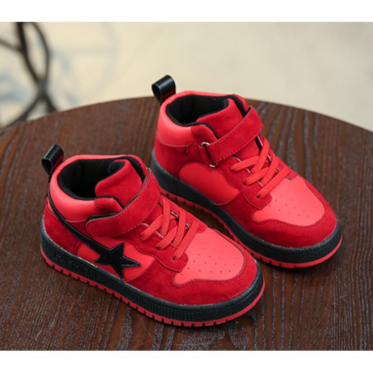 Красные модные детские хайтопы фото №1