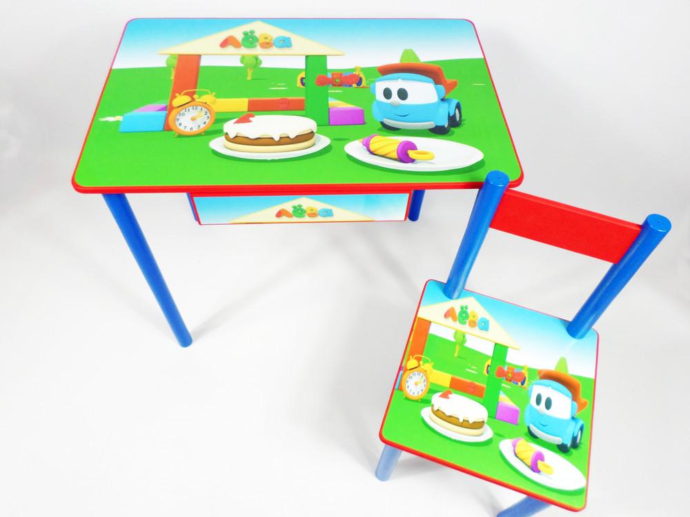 """Детский стол и стул """"грузовичек лёва"""" """"синий трактор"""" от 2 до 7лет фото №1"""