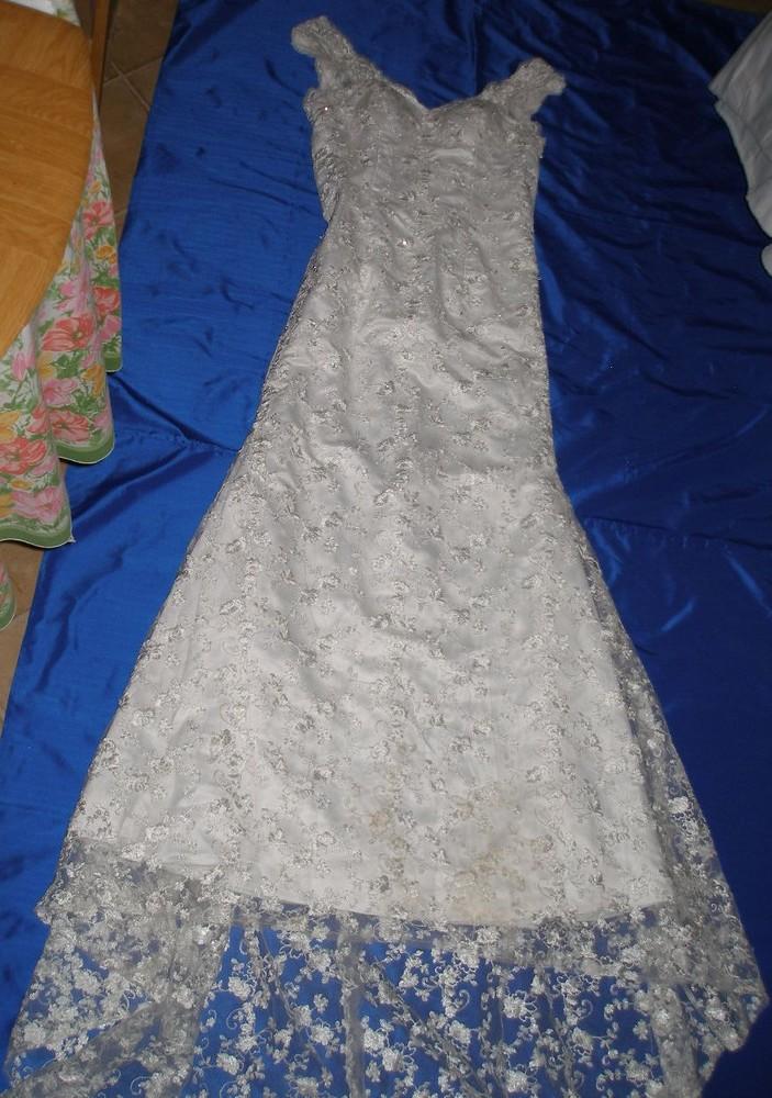 Платье свадебное м. со шлейфом, кружевное. 3137. фото №1