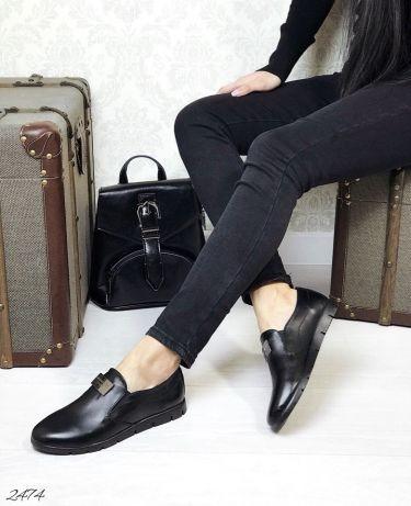 Женские туфли/слипоны натуральная кожа/замша фото №1