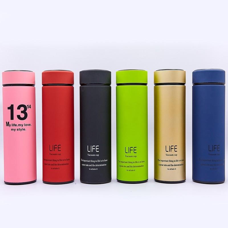 Бутылка для воды термос стальной life 013: 6 цветов, объем 450мл фото №1