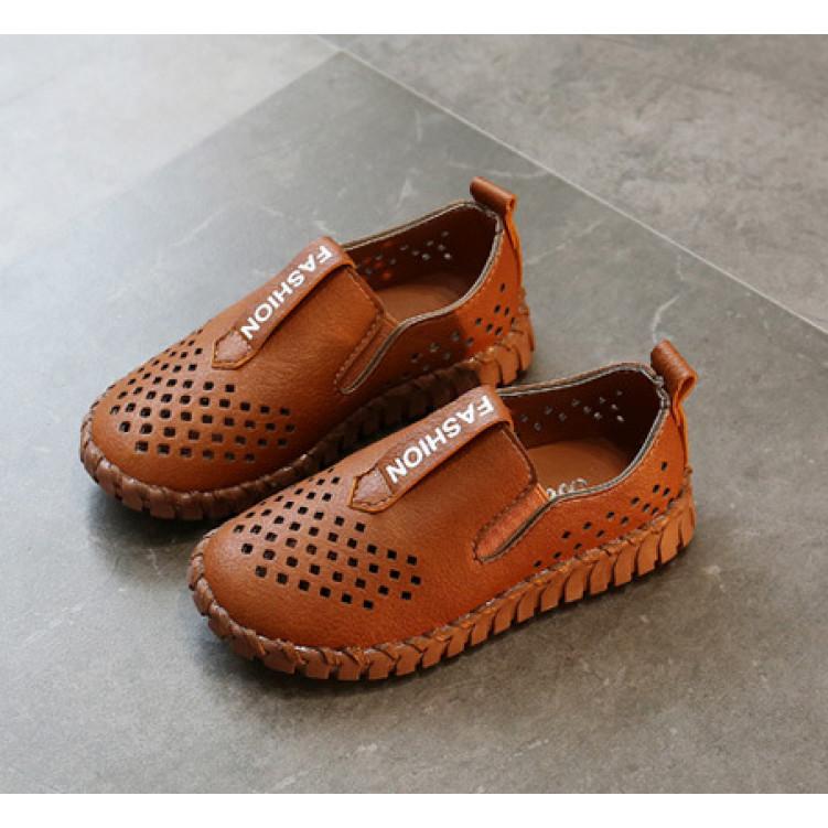 Коричневые туфли мокасины перфорация фото №1