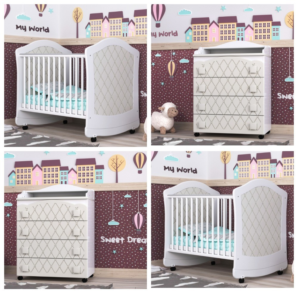 Кроватка для новорожденных и комод фото №1