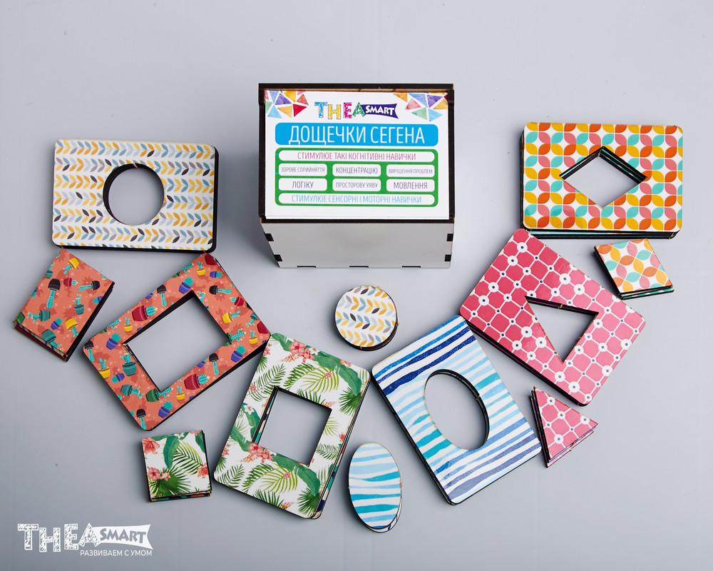 Досочки сегена. разноцветные и однотонные. деревянные игрушки. thea smart фото №1