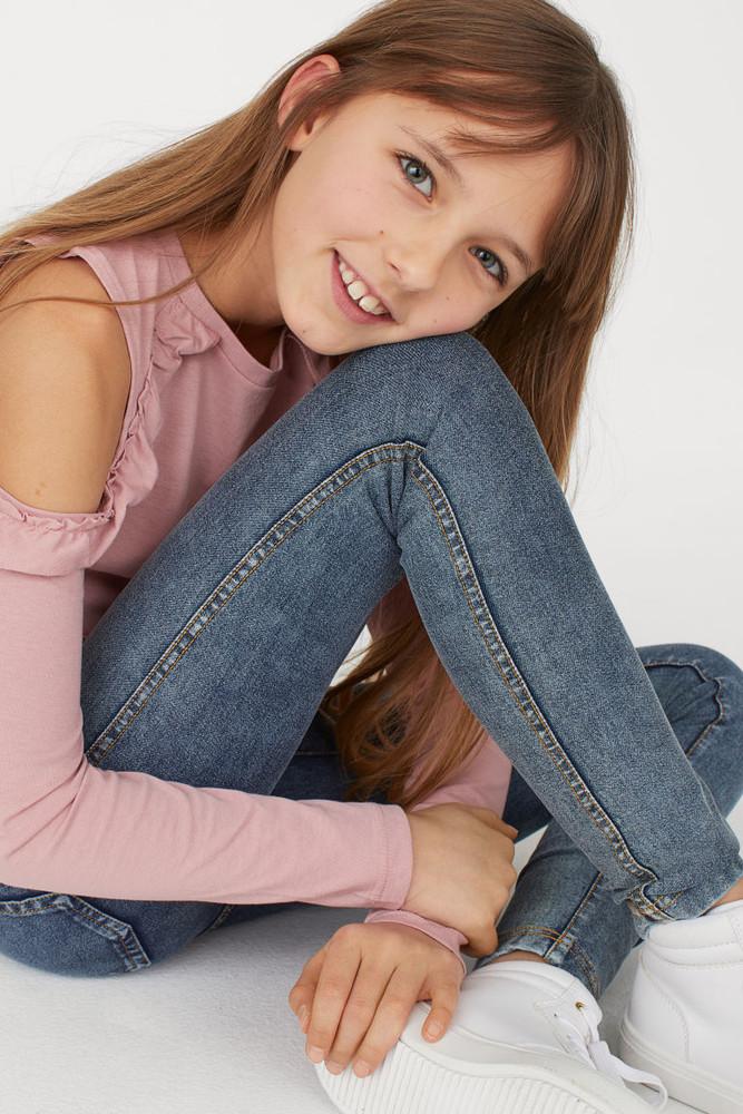 Cуперстрейчевые летние джинсовые легинсы от h&m фото №1