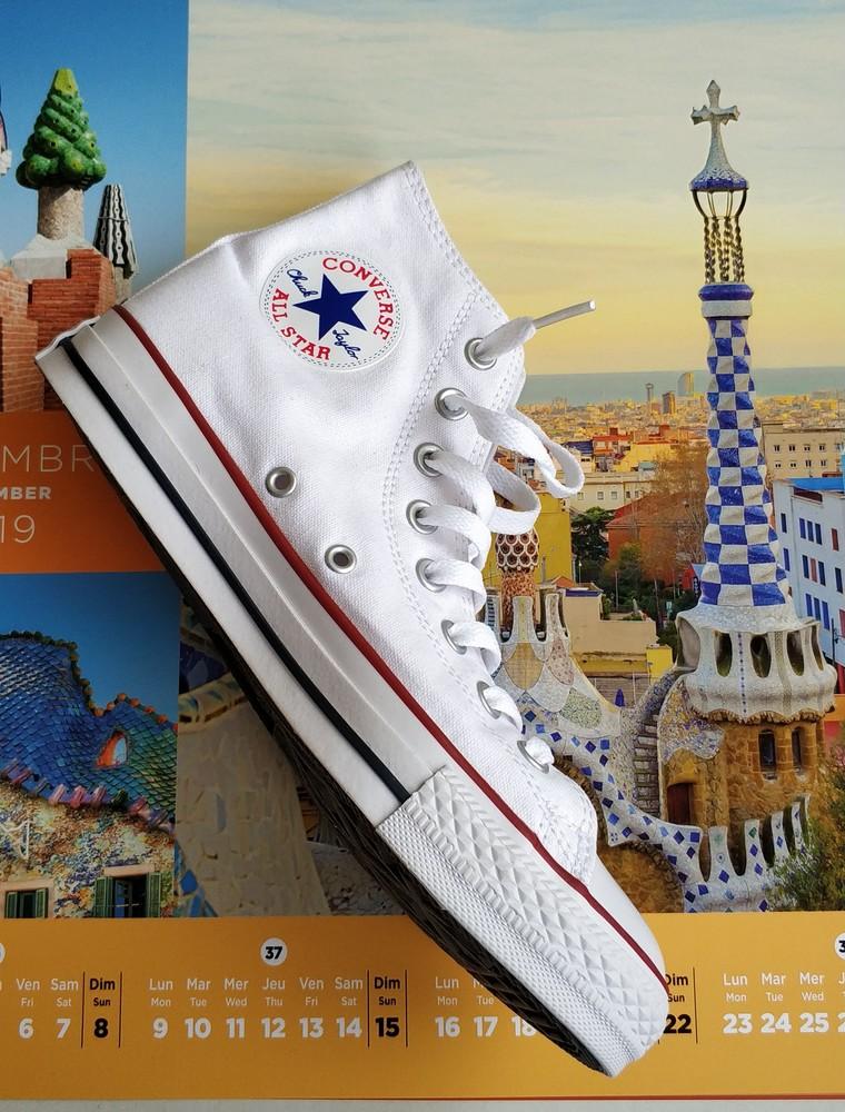 В наличии стильные converse all star optical white high фото №1