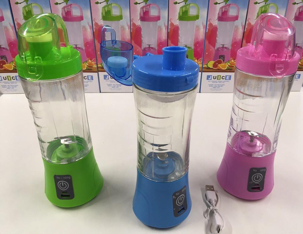 ✅кружка блендер juice cup  аккумуляторный портативный с поилкой, usb зарядка,блендер портативный фото №1