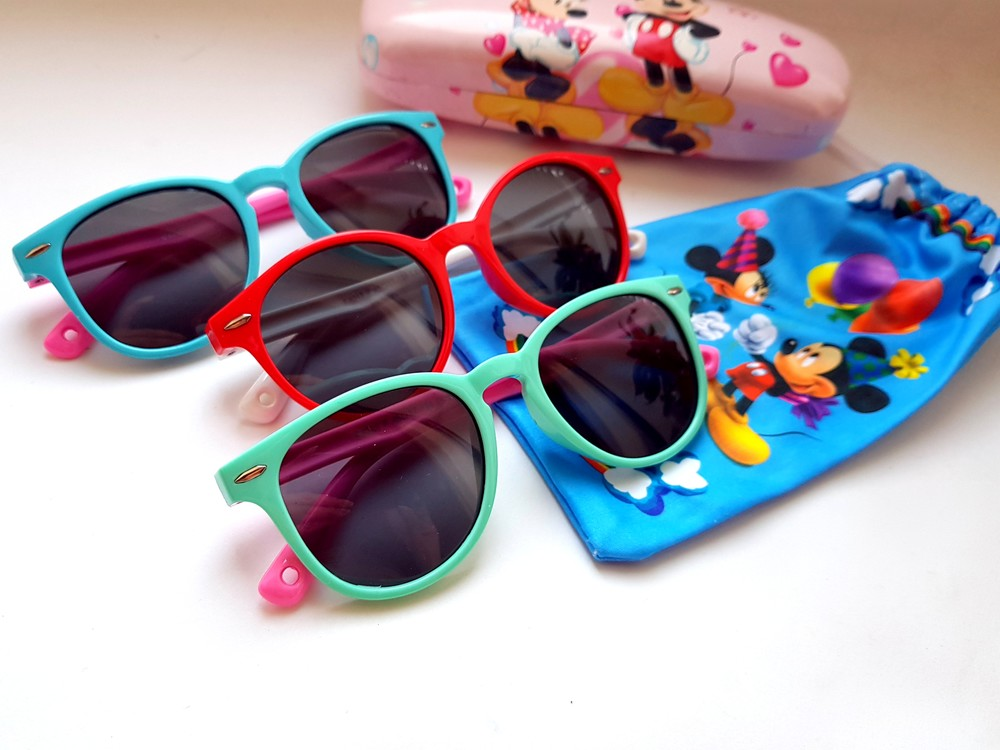 Детские гибкие очки - polarized ! яркие круглые очки от солнца фото №1