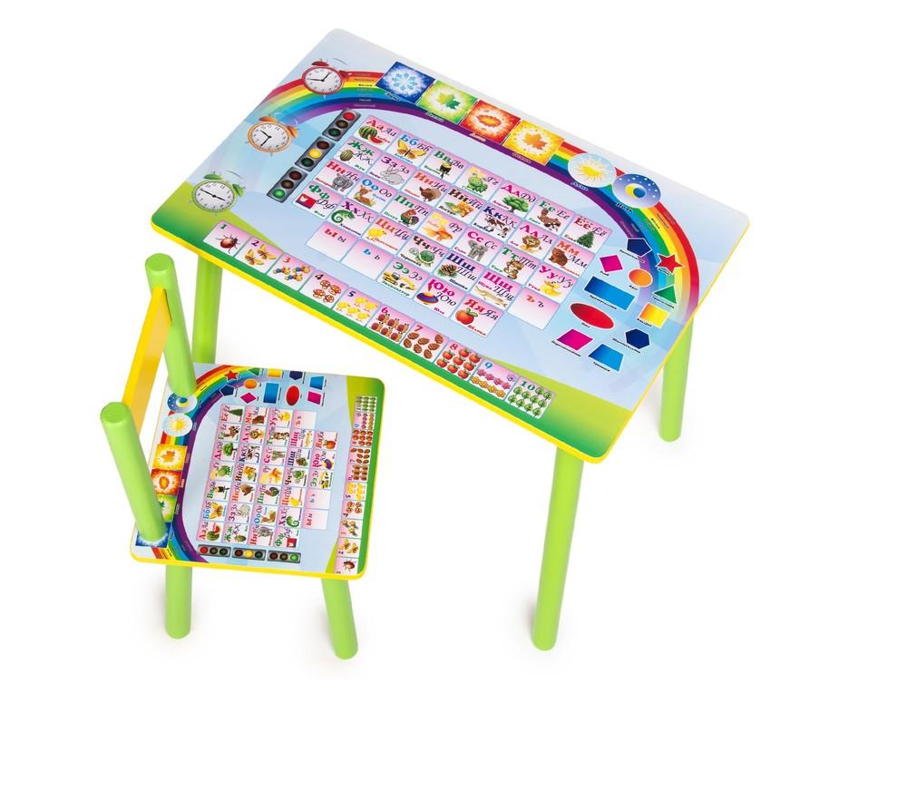 Детский столик и стул для деток 1-7 лет. времена года. от производителя фото №1