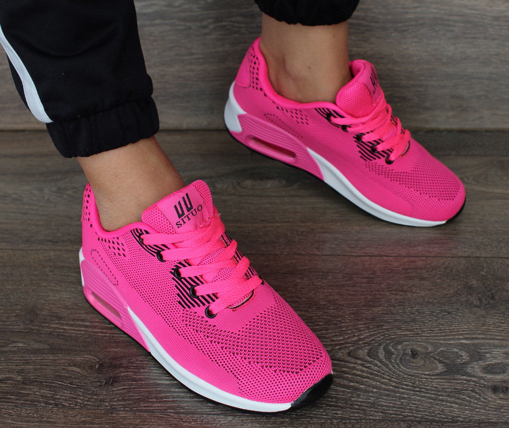 Женские яркие розовые кроссовки (8625-5) фото №1